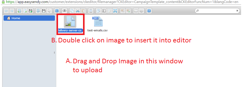 How To Upload Images Inside Email Template