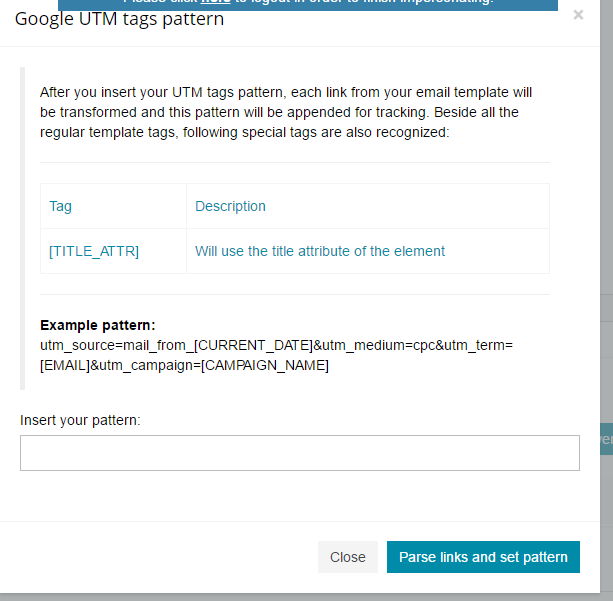 Integrate Google Analytics UTM Tags in Email Campaign