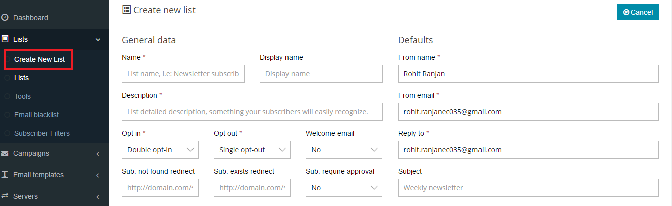 Subscribe/Unsubscribe Emails Along Multiple Email Lists